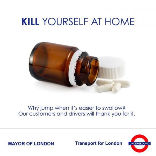 Fake TfL suicide campaign